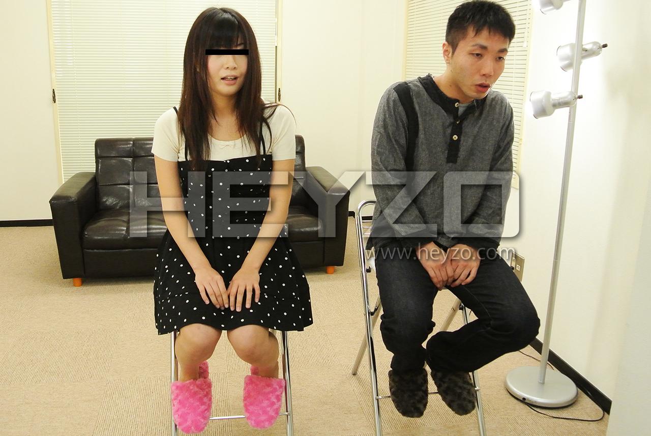 夢のコラボ!?女優志望の巨乳素人と男優志望の童貞クンの初ハメ撮りおろし!